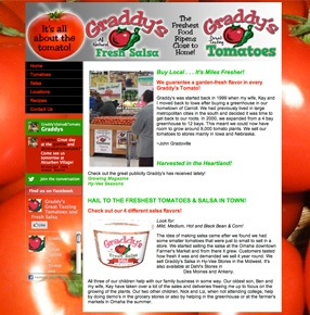 Graddy's Tomatoes & Salsa website
